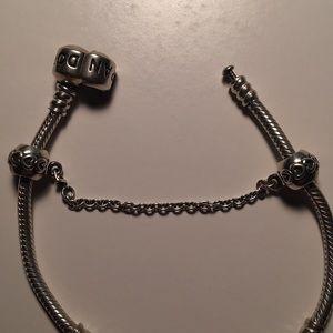 Heart Safety Chain Pandora Charm